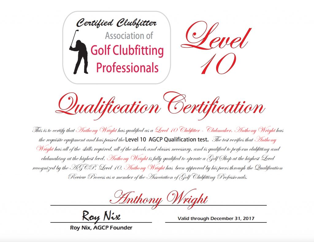 AGCP Level 10 Certification